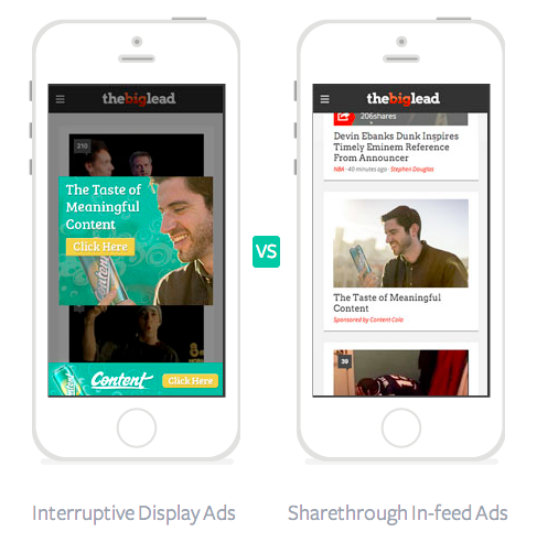 Banners vs. Native, In-Feed Ads